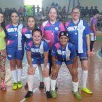 Equipe campeã futsal feminino A - Bento