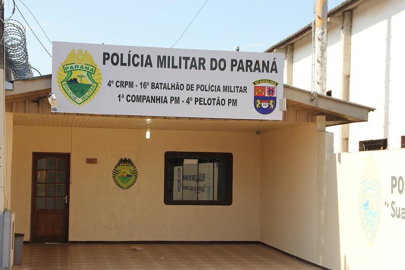 Sede do 4º Pelotão da Policia Militar de Pinhão |