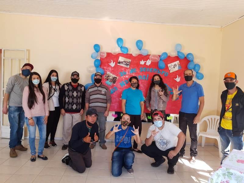 Membros da Associação Municipal de Surdos de Pinhão