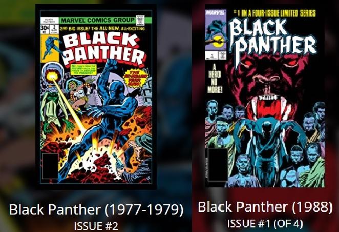 As histórias incluem as primeiras edições solo do rei de Wakanda, lançadas em 1977 e 1988.
