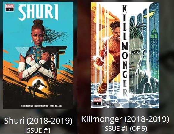 as séries Shuri, de 2018, focada na história da irmã do Pantera Negra