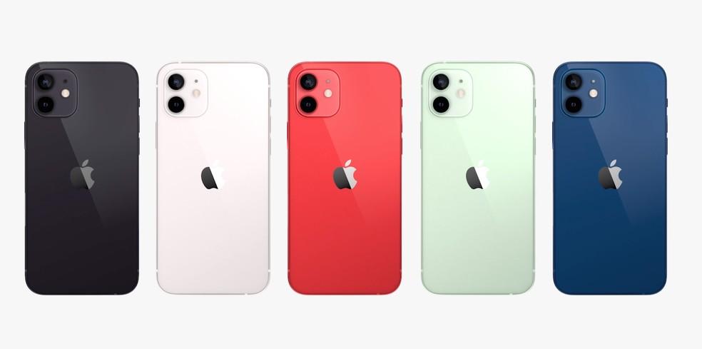 Todas as cores do iPhone 12 e iPhone 12 mini