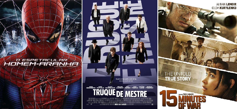 truque de mestre, espetacular homem-aranha são alguns dos filmes na programação da TV Globo