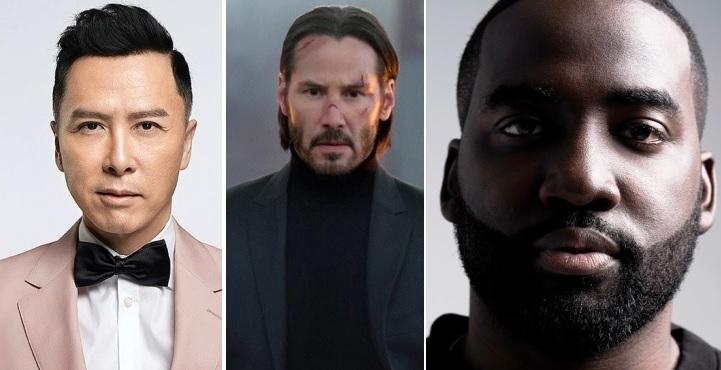 Donnie Yen, Keanu Reeves e Shamier Anderson Crédito: Bullet Films / EVERETT / Mia Wilson