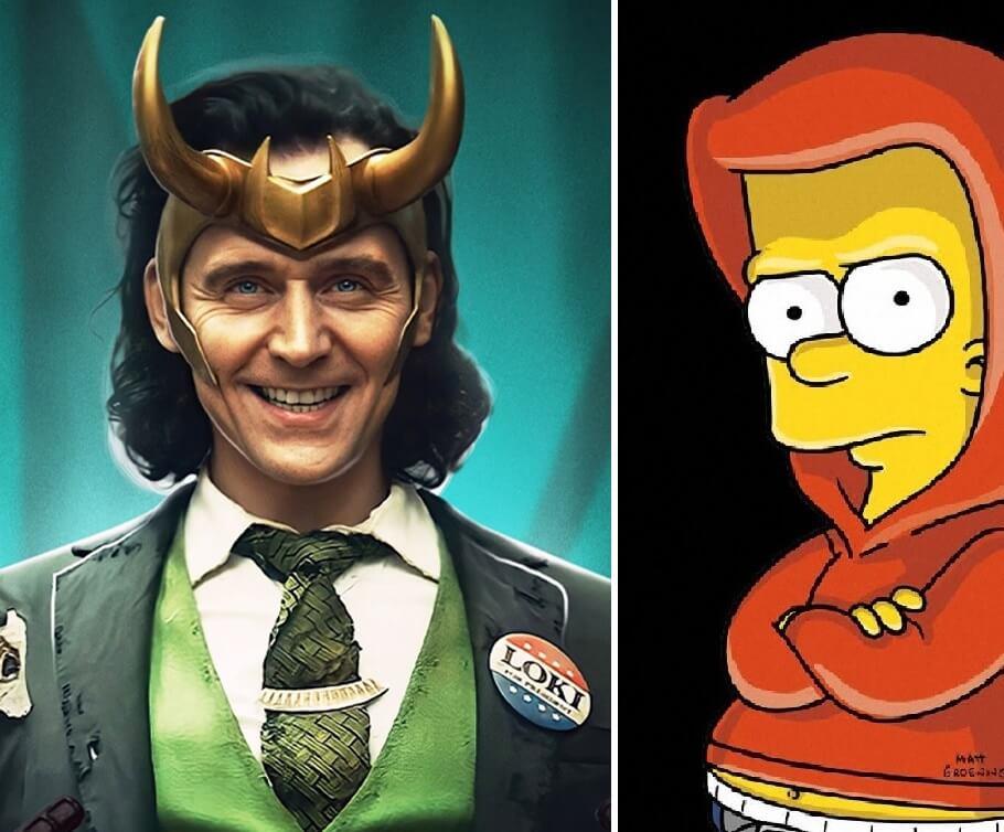 Loki e Bart Simpson juntos em um curta da Disney+