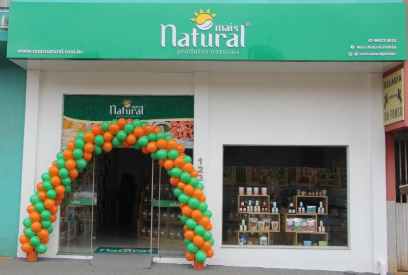 Fachada da loja Mais Natural