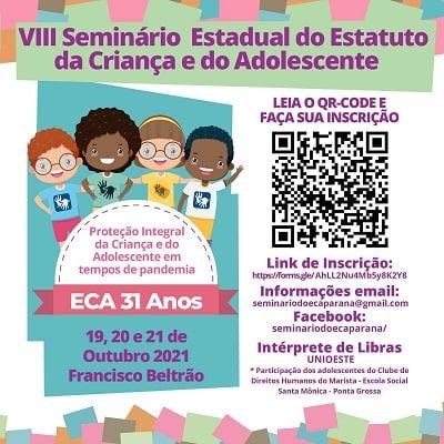 Inscrições para VIII Seminário sobre o ECA estão abertas